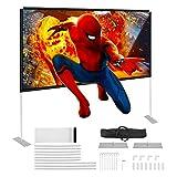 Powerextra HD 16: 9 100 pollici, schermo con supporto, borsa compatta pieghevole per home theatre, campeggio e eventi ricreativi