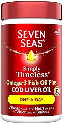 Seven Seas Omega-3 Fish Oil Plus Cod Liver Oil One-a-Day 120 Capsules