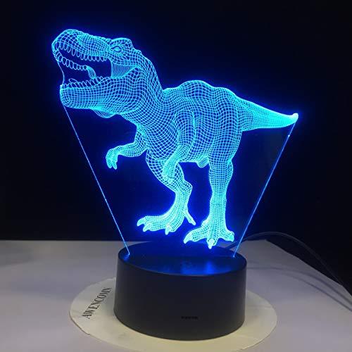 Nur 1 Tier Dinosaurier Lampe Acryl 3D Illusion LED Lampe Bunte Berührung Nachtlicht Kinder Geschenke 33