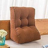 XXT-almohada Salón Dormitorio de la Piel de Usar maíz en Grano Pana Multifuncional Almohada Bed Head cojín del sofá Trasero de la Cintura (Color : Brown, Size : 45cm*30cm*55cm)