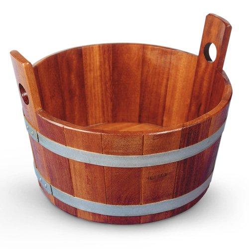 Sehr hochwertige Holz-Fußwanne in 2 Ausführungen (Fußwanne 16 Liter, Kambala)