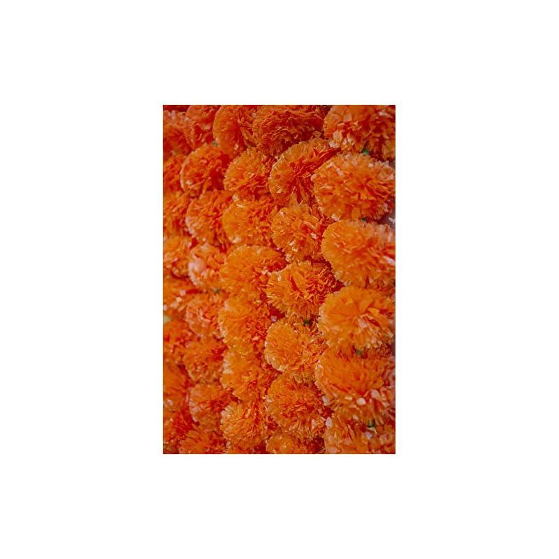 silk flower arrangements krati exports - 5 feet marigold garland