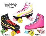 Sell-tex Rollschuhe für Kinder Rollerskates NEU Gr. 34 35 36 37 38 39 40 Pink weiß schwarz
