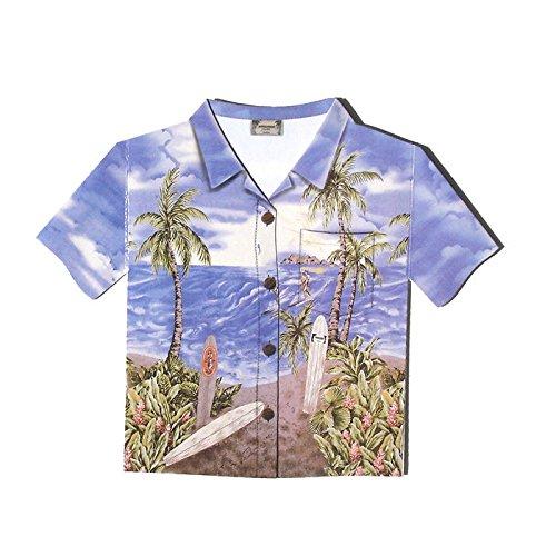 ハワイアン アロハシャツ カード サーファー シーン 白封筒付