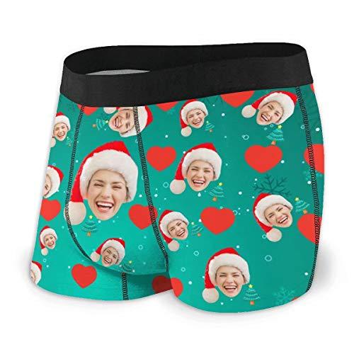 Daiwen Männer Boxershorts Lustig Personalisiert Herren Boxershorts Unterwäsche, Personalisierte Gesichtsunterhosen Unterwäsche für Männer Freund, Benutzerdefinierte Unterwäsche mit Gesichtsfoto