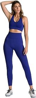 XFKLJ Sports Bra Yoga Pants Women's Seamless Yoga Set Sportswear Sports Bra+Leggings Fitness Pants Gym Running Suit Exerci...