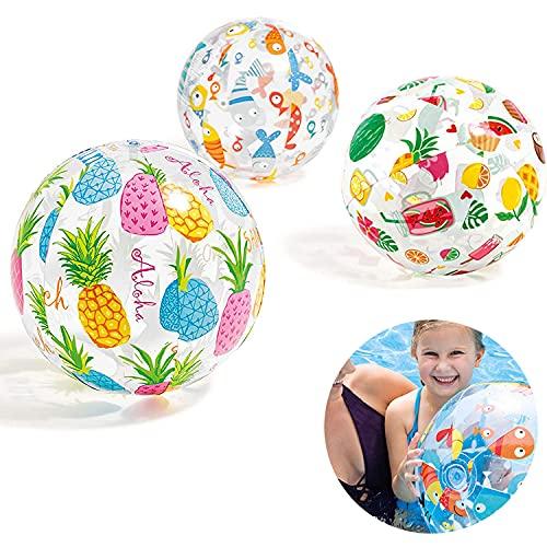 [Set di 3 pezzi]Pallone da Spiaggia Gonfiabile,Palla per Piscina,Pallone Glossy,Palloni...