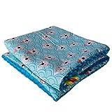 Koala Blau Minky Babydecke Kuscheldecke Krabbeldecke Decke Super weich und flauschig Handarbeit (75x100cm, Koala Blau)