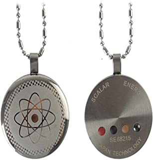 Tvoip Anti EMF Radiation Protection Pendant 2000+ Negative Ions Far Infrared Volcanic Lava Accessory (Silver)