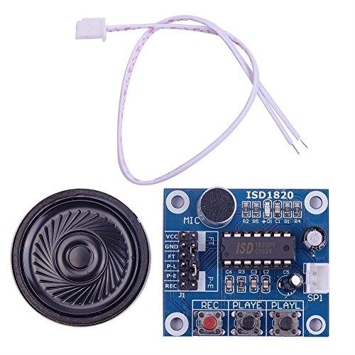 iHaospace ISD1820 - Modulo di registrazione audio vocale con microfono e altoparlante