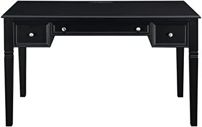 Coaster Home Furnishings Writing Desk with Keyboard Drawer and Power Outlet Black