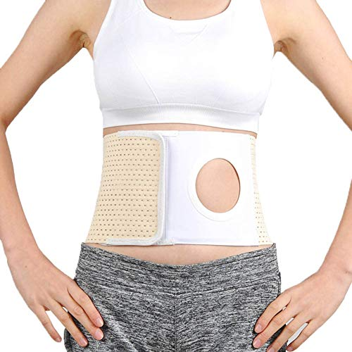 Ostomy Belt Support, Stoma Support Ostomy Hernia Belt for Men & Women, for Colostomy Bag Abdominal Binder with Stoma Opening,7cm,XL
