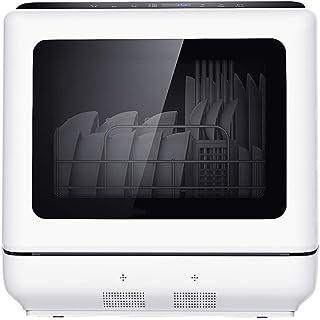 XHCP Mini lavavajillas de sobremesa lavavajillas SpeeAsh 360-deg 360-degDA Doble roAting Spay Tres-en-uno DishAsher, con programas de Limpieza Inteligente