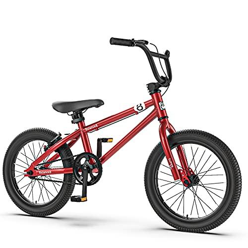 Bestting Tienda De Bicicletas, La Bicicleta para Niños De 16 Pulgadas Se Puede Desmontar Y Montar con Ruedas Auxiliares para Bicicletas para Jóvenes De 4 A 12 Años,Rojo,A