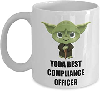 Yoda Best Compliance Officer Coffee Mug Cup Funny Christmas Gifts Ideas For Departing Employee Appreciation Office Staff Worker Coworker