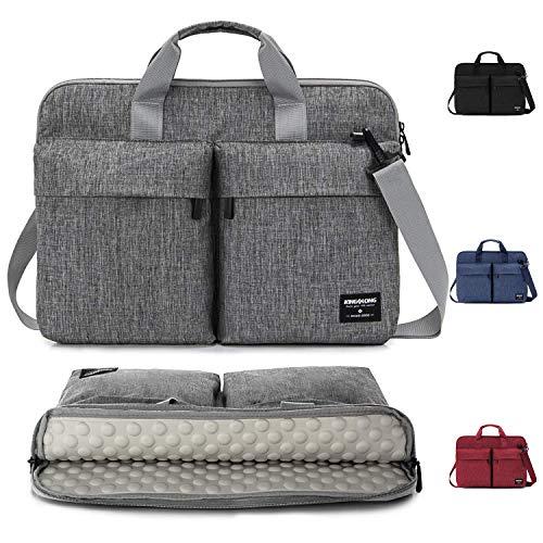 KINGSLONG Laptoptasche 17-17.3 Zoll Laptop-Schultertaschen Aktentaschen Schutzhülle Business Leichtgewicht Messenger Bags Herren und Damen