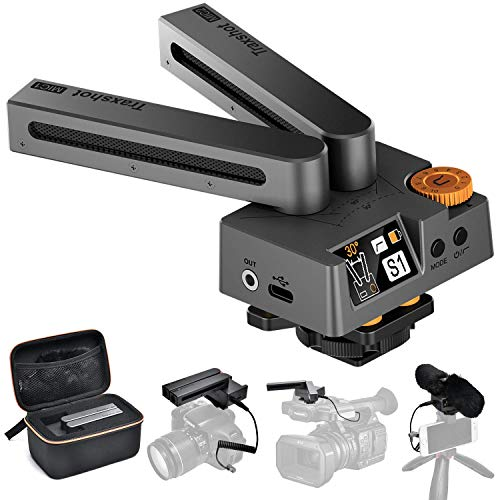 Stereo Mikrofon, Kamera Mikrofon Comica Traxshot Video Shotgun Mikrofon Richtmikrofon mit 3,5mm TRS/TRRS Cables und Windschutz für Canon Nikon Sony Fuji Panasonic DSLR-Kamera Camcorder Smartphone