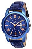 TIMEWEAR Day Date Functioning Blue Dial Blue Strap Watch for Men's - 238BDTG