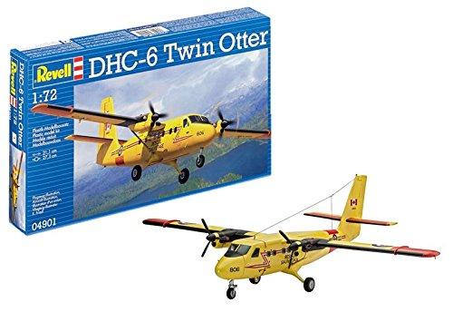 Revell Modellbausatz Flugzeug 1:72 - DHC-6 Twin Otter im Maßstab 1:72, Level 3, originalgetreue Nachbildung mit vielen Details, 04901