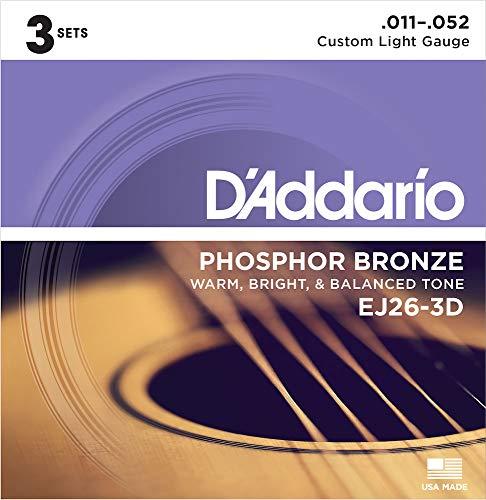D'Addario EJ26-3D Gitarrensaiten für Akustikgitarre, Stahl, 18 Stück