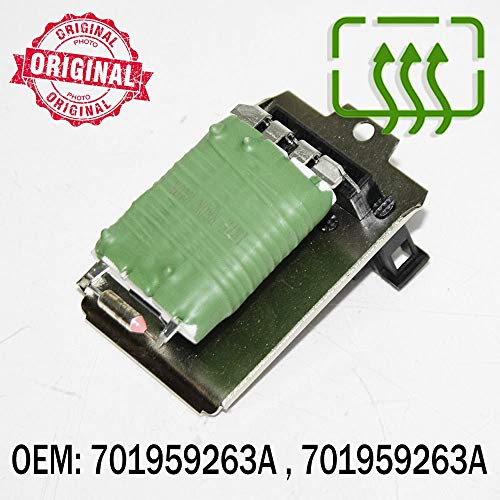 Control del ventilador del ventilador del resistor del motor del calentador de 4 Pin compatible con Arosa Cordoba Ibiza Inca OEM 701959263A