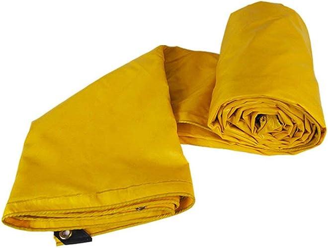 JINSH Tente extérieure bache de Prougeection Solaire imperméable Tente de Tissu Tricycle Voiture bache Anti-Corrosion Anti-vieillissement, Jaune (Couleur   jaune, Taille   5x5M)