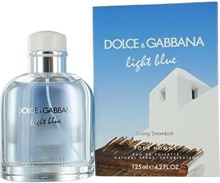 D & G LIGHT BLUE LIVING STROMBOLI POUR HOMME by Dolce & Gabbana EDT SPRAY 4.2 OZ