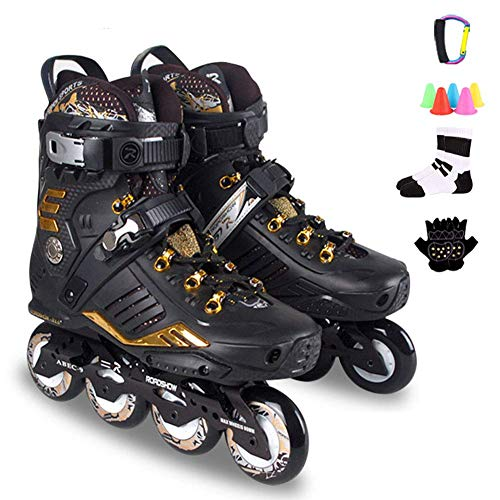 Professional Inline Skates for Adults, Comfortable Roller Skates for Men's, Lightweight Roller Blades for Women's, Triple Protection, Great for Beginners,A,8 UK/43 EU
