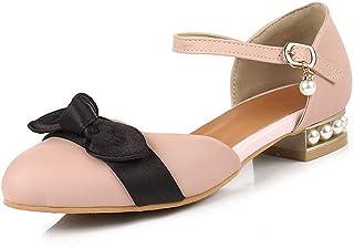 BalaMasa Womens ASL06574 Pu Block Heels