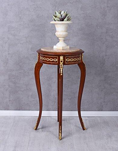 Unbekannt Blumentisch Barock Tisch Blumenhocker Marmorplatte Blumensäule Beistelltisch Ant Palazzo...
