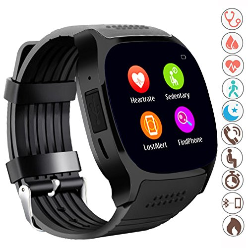 Fahionlive Bluetooth Smart Watch Touch Screen Phone Mate Heart Rate Fitness Tracker Built in Mic Speaker Android Smartwatch for Women Men Christmas Xmas Gift