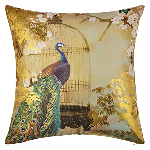 Arthouse Suki Foil Cushion, Fabric, Gold, 45 x 45 x 0.02 cm