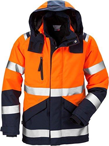 Fristads Kansas Workwear 120987 High Vis Gore-Tex Jacke Gr. M, Warnhinweis: Orange/Marineblau