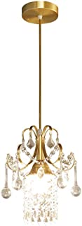 XNCH European Style Chandelier/Lights Single Crystal Pendant Lamp American bar Aisle Porch Aisle Decorative Chandelier Brass Suspension Lamp 2330 (mm)