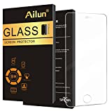 Ailun Screen Protector Compatible iPhone 5s iPhone SE(2016),for iPhone SE(2016)/5s/5/5c,Tempered Glass,9H Hardness,2.5D Edge,Anti-Scratch,Case