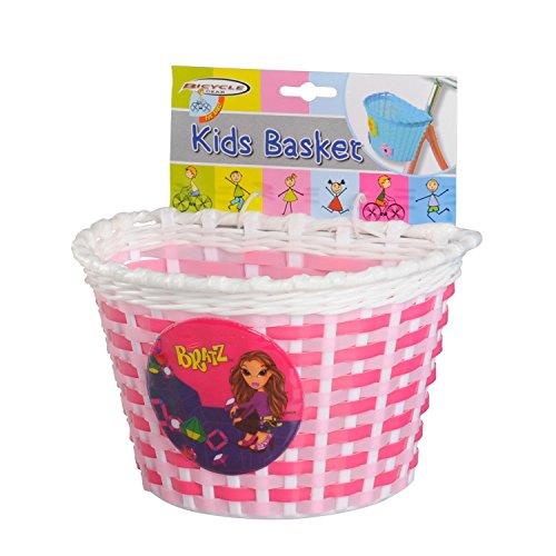 Fietsmand voor kinderen, stuurmand - 3 kleuren om uit te kiezen, blauw, roze, wit (roze)