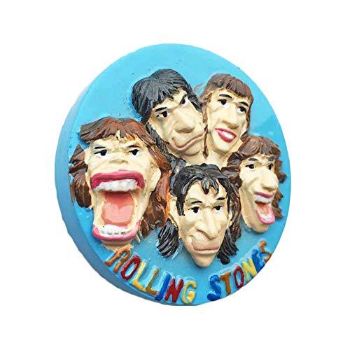 3D Rolling Stones England UK Kühlschrank Kühlschrankmagnet Tourist Souvenirs Handmade Harz Handwerk Magnetischen Aufkleber Home Küche Dekoration Reise Geschenk