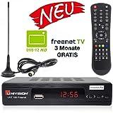 Univision UNT160 digitaler DVB-T2 Receiver mit Antenne inkl. 3 Monate
