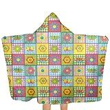 ZHSL Patchwork de toalla para bebé con capucha, motivos de primavera infantil...