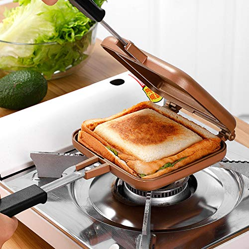 Sandwichera Y Waflera,Sandwichera Eléctrica Para El Hogarsandwichera Antiadherente A Gas, Máquina De...