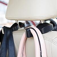 2-Pack CHITRONIC YY041 Universal Car Seat Back Headrest Hanger Hooks (Black)