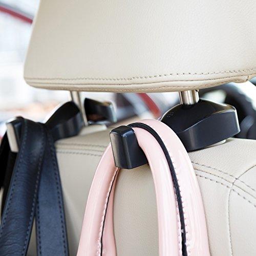 ChiTronic Car SUV Seat Back Headrest Hanger Hooks Set of 2 Black