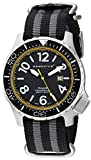 Momentum Men's Stainless Steel Japanese-Quartz Watch with Nylon Strap, Black, 22 (Model: 1M-DV74Y7S)
