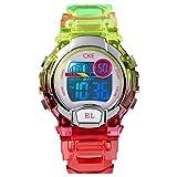 Kids Watch, Digital Waterproof Sports Watches for Boys Girls with 3 Color EL LightStopwatch Alarm