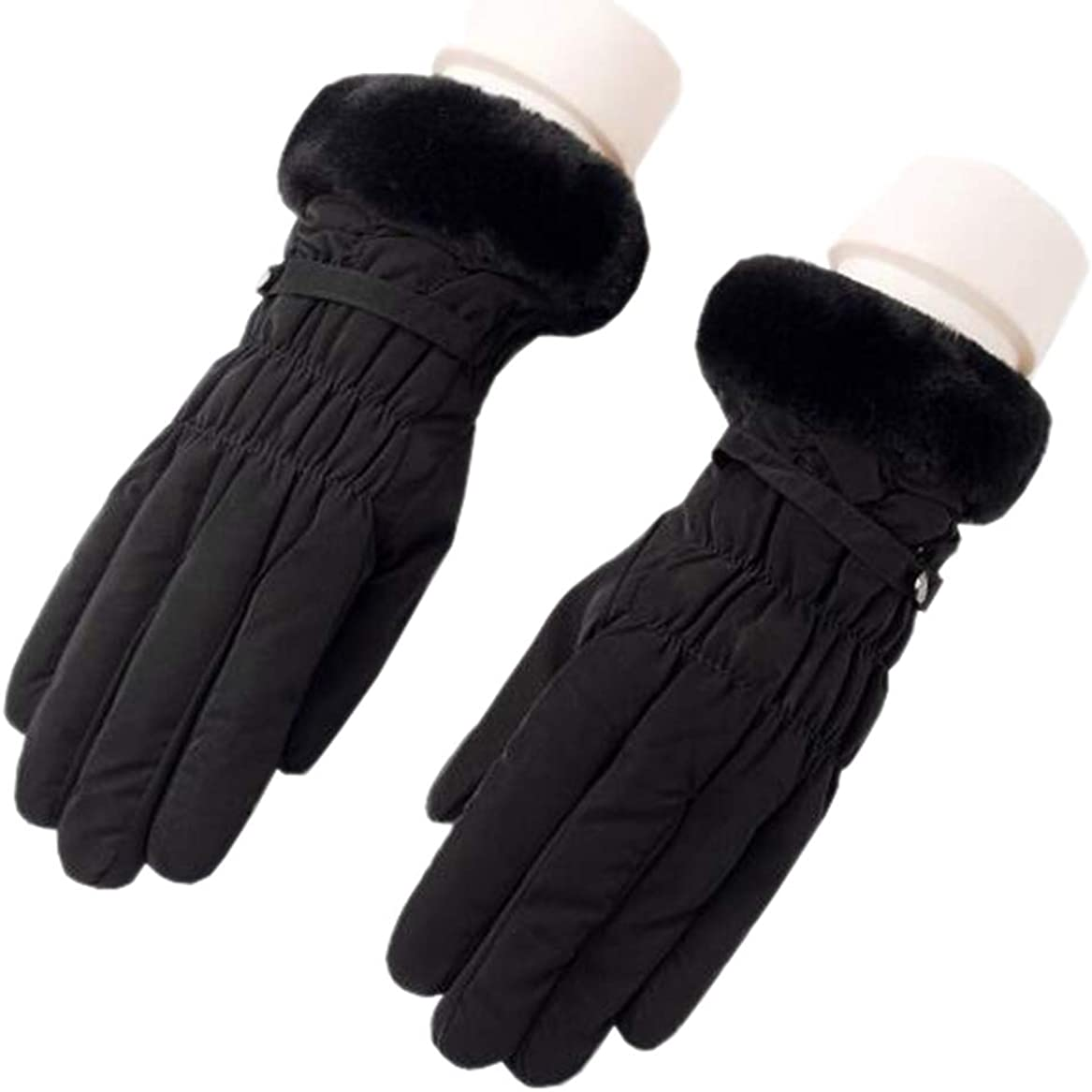 BIKMAN Women's Winter Gloves Cold Weather Fleece Lined Windproof Thermal Gloves Touchscreen