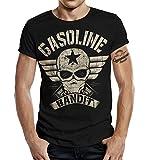 Gasoline Bandit Biker Camiseta Original Diseno Big-Size Print: Bandit Wing XL