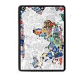Coque rigide pour Apple iPad Air 1Gen Motif carte du monde pour homme