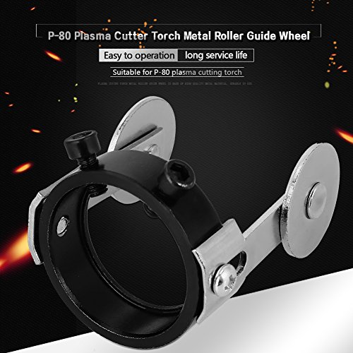 Cutter Torch Roller Guide, Rollenführung Plasma Cutter Torch Metallrollenführungsrad mit zwei Schraubenpositionierung für P80 - 6
