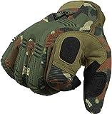 Vollfinger Allround Einsatzhandschuhe für Sport und Outdoorbereich Farbe Flecktarn Größe M