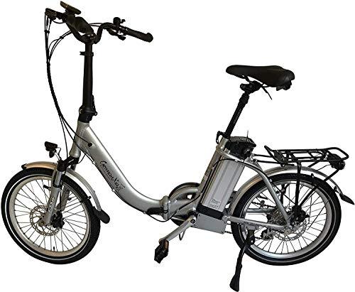 GermanXia xgerman électriques vélo pliant 20'eturbo Comfort 7g Shimano LCD, 250W HR Entraînement/15,6ah, portée jusqu'à 120KM après STVZO